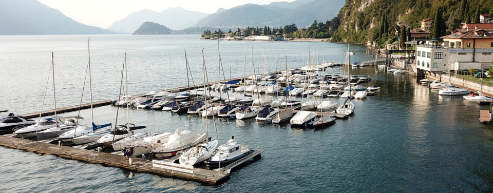 Mooring berths lake Como